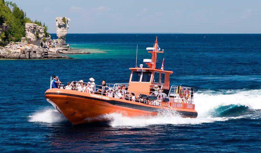 Blue Heron Flowerpot Express Jet Boat RHIB