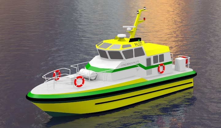 Long Beach Pilot Boat render