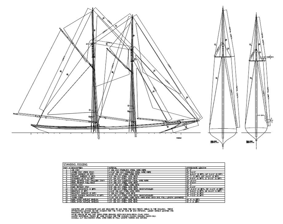 Standing Rigging Drawing