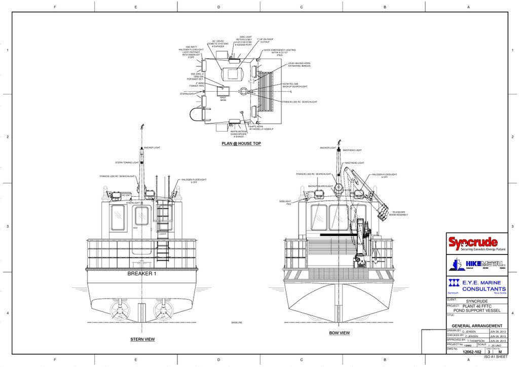 Ice Breaker General Arrangement sheet 3