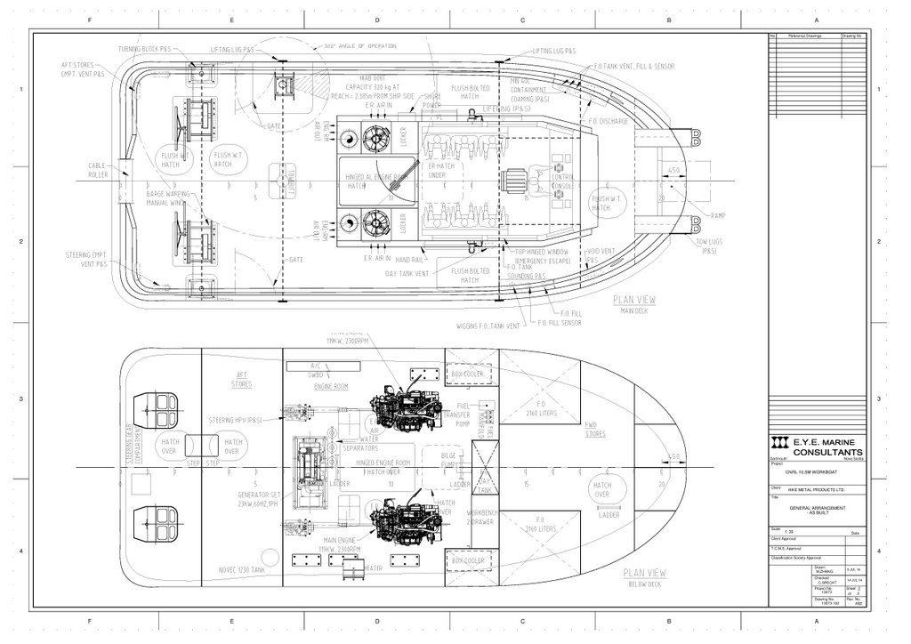 Pond Support Vessel General Arrangement sheet 2