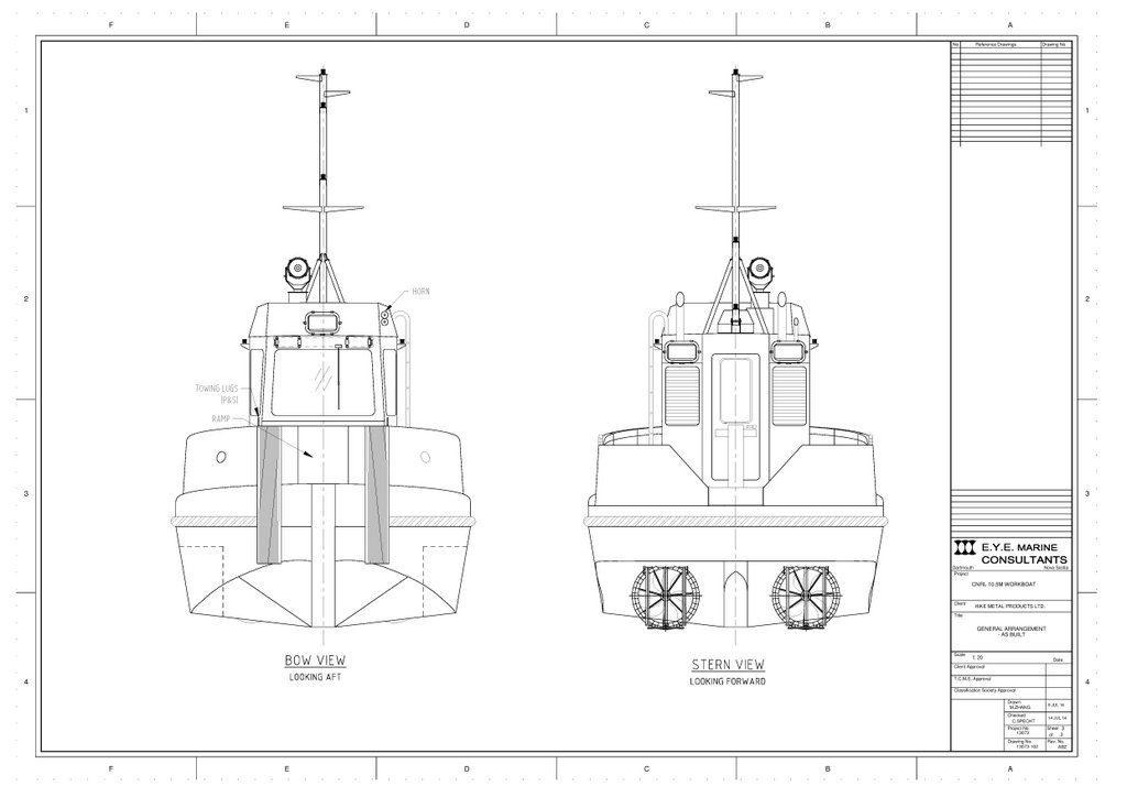 Pond Support Vessel General Arrangement sheet 3